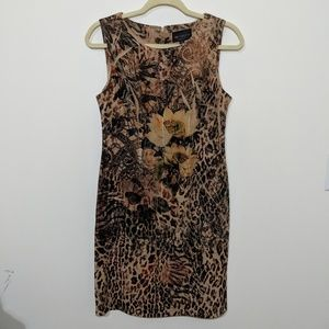 Sheath Dress Jungle Print by Connected Apparel
